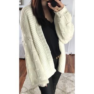 Sweaters - Cheerful Knit Cardigan | Ivory